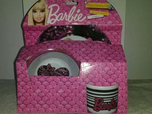 Set De Platos Y Tasa Barbie
