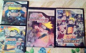 Wii - Naruto Clash Of Ninja Revolution, Ii, Iii Y Naruto Ex