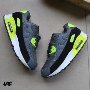 Nike Air Max 90 Para Niños De La Talla 25 A La 30