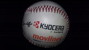 Pelota De Beisbol Movilnet Kyocera De Colección Firmada