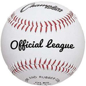Pelotas De Cuero Sintetico De Béisbol Champion Sports Usa