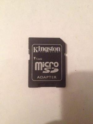 Adaptador/lector De Memoria Micro Sd Kingston