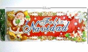 Adorno De Navidad Escarchado Para Puertas Full Color
