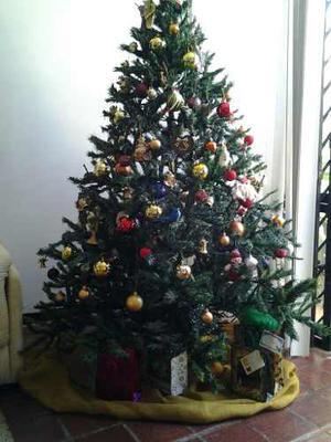 Arbol De Navidad 1,50 De Alto, Con Su Base Metalica.
