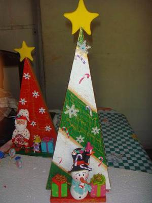 Arbolito De Navidad En Masa Flexible Y Mdf, Adornos