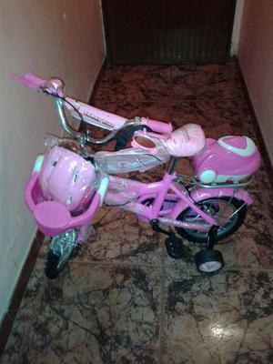 Bicicleta Rin 12 Full Equipo Para Niña