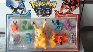 Figuras De Pokemon Go Plus Set De 9 Piezas