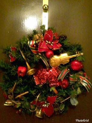 Guirnalda De Navidad Para La Puerta