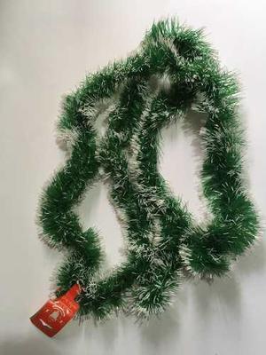 Guirnalda Navidad 2 Metros Verde Y Blanco Decoracion