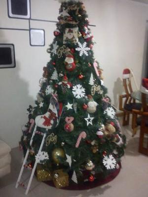 Hermoso Arbol De Navidad Con Adornos Negociable!