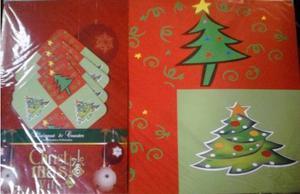 Manteles Individuales Mesa Navideños, Arbol Y Santa