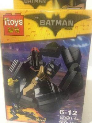 Muñecos Armables Tipo Lego Batman Superman Con Sus Naves