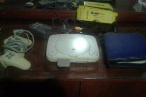 Playstation 1, Con Control Original Y Memory Card.