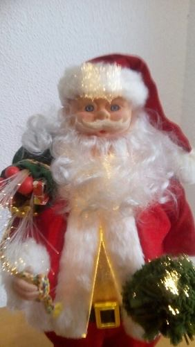Santa Claus Adorno Navideño Con Fibra Óptica Con