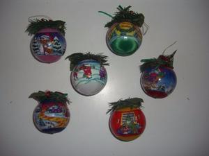 Set 6 Bambalinas Bolas Árbol De Navidad