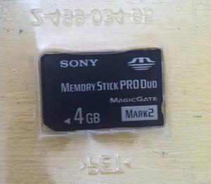 Tarjeta De Memoria Memory Stick Pro Duo Sony 4 Gb Original