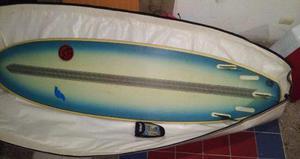 Tabla De Surf De Fibra De Carbono Con Cinco Quillas Y Forro