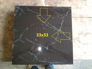 Ceramicas Color Negro Y Vetas Blancas 33,3 X 33,3