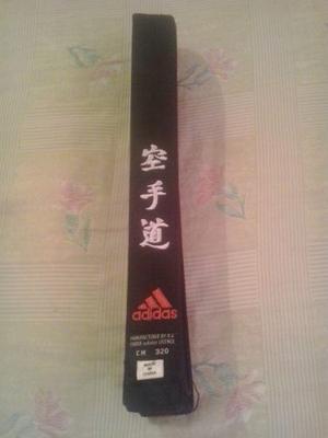 Cinturón Negro adidas 360 Cm Numero 6 Modelo Kanji