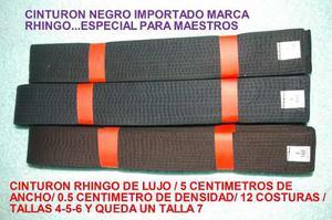 Cinturon Negro Importado Rhingo-de Lujo-tallas 4-5-6