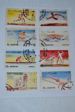 Estampillas De Dhufar (estado De Oman) Juegos Olimpicos