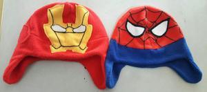 Gorros Super Heroe Marvel, Dc Comics, Magallanes Fibra Polar