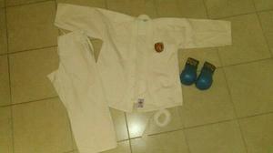 Kimono Karate, Camisa, Pantalon, Cinta Y Guantes