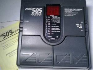 Pedalera Multiefecto De Guitarra Zoom 505