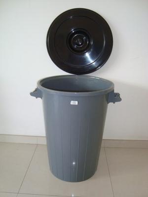 Pipote Plastico Con Tapa Manaplas 85 Lts.multiuso