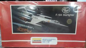 Avión Armable Lindberg F-104 Starfither. Somos Tienda