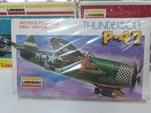 Avión Armable Lindberg Thunderbolt Escala 1/48. Somos