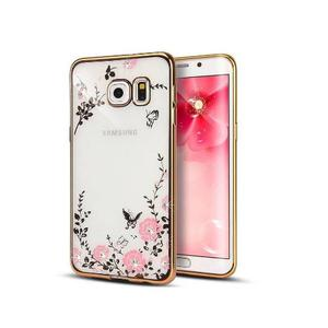 Forro Estuche Tpu Con Flores Samsung Galaxy S4 S5 S6 S7 Bagc