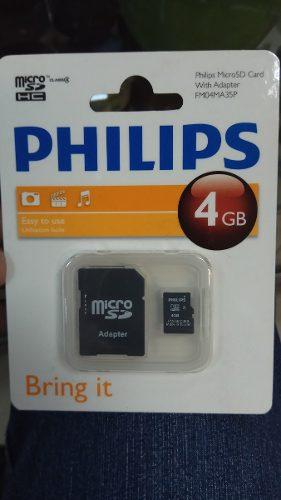 Memoria Micro Sd 4gb Clase 4 Marca Philips