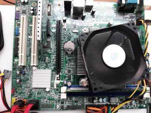 Tarjeta Madre  + Procesador Dual Core Ggb En Ram