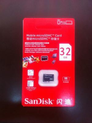 Tarjeta Micro Sd 32gb Sandisk
