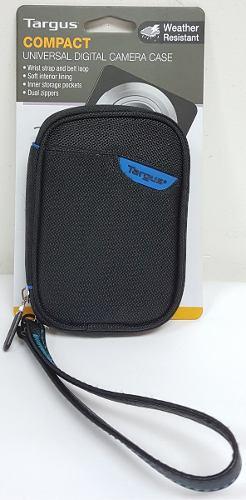 Bolso Porta Camara Marca Targus Negro Detalle Azul Tg-sc