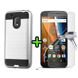 Estuche Forro Verus + Vidrio Templado Moto G4 Play Motorola