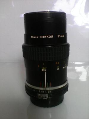 Lente Objetivo Micro-nikkor 55 Mm 1:2.8 Ais