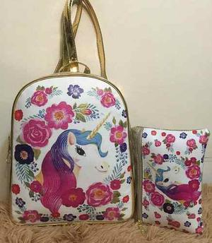 Morral Y Cartuchera Unicornio