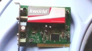 Tarjeta Capturadora Tv En Buenas Condiciones Usada. Kworld