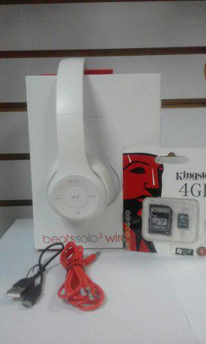 Audífonos Beats Solo 3 + Micro De 4gb. Tienda