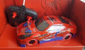 Carro A Control Remoto Avengers Spiderman Con Luces Regalo