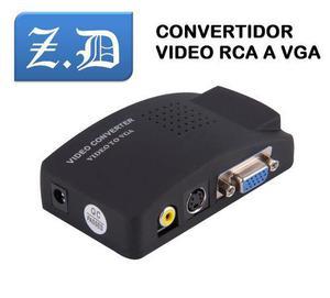Convertidor De Video Rca A Vga Al Monitor O Video Beam