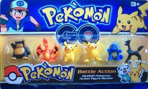 Figuras De Pokemon Pikachu Squirtle Set De 6 Figuras