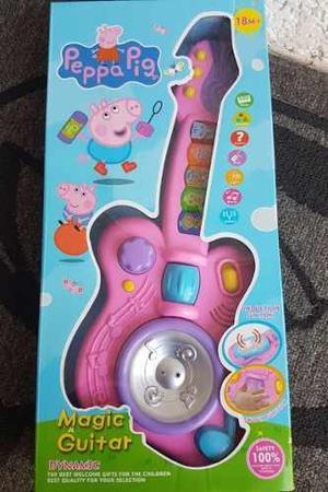 Guitarra De Peppa Pig Juguete Con Luces Sonidos Regalo