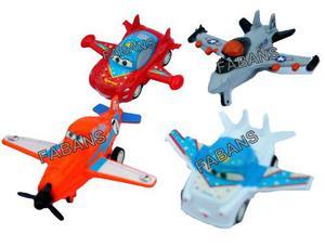 Set 4 Aviones Planes Fricicion Juguetes Carritos Niño
