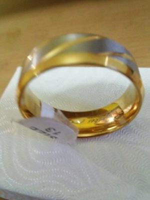 Anillo De Matrimonio De Acero Inoxidable Talla 13