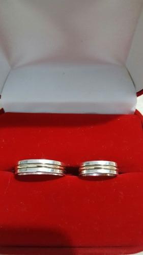 Aros De Matrimonio En Plata Y Plata Con Oro