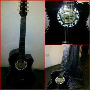 Guitarra Acústica De 18 Traste Totalmente Nueva Con Su