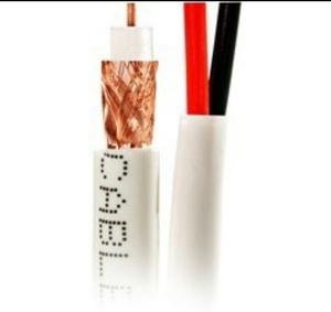 Cable Coaxial Y Voltaje Siames Rg59 Para Cctv